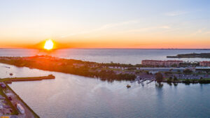 View beautiful Tampa Bay sunsets on your balcony every evening